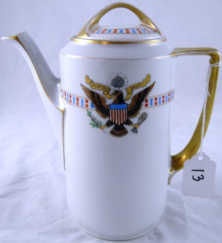 13: Silesia Men's WWI German Porcelain Tea Pot