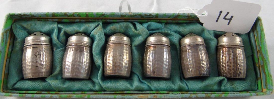 14: Set of (6) Sterling Silver Salt & Pepper Shakers