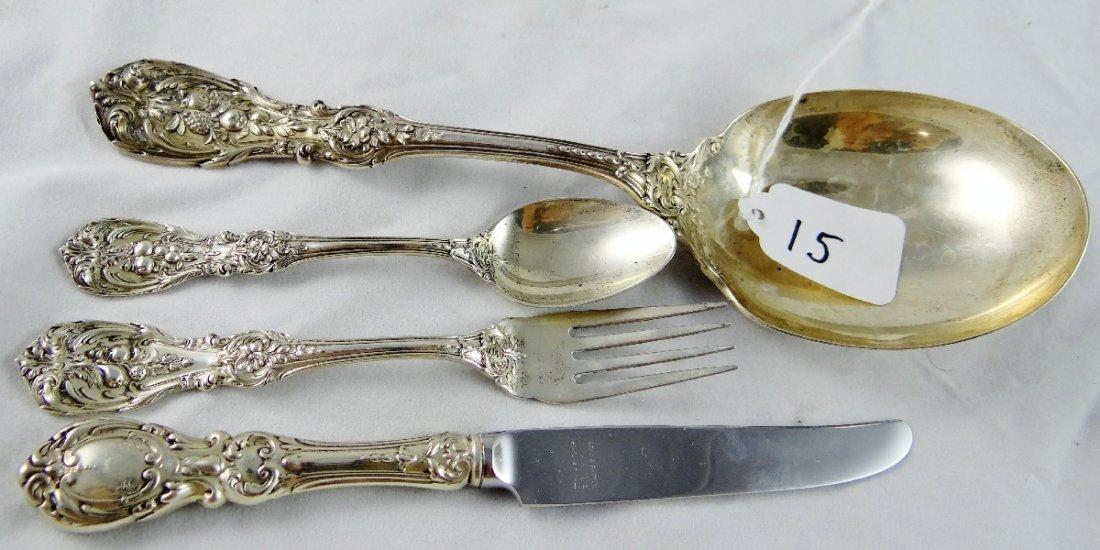 15: (4) Reed & Barton Sterling Silver Flatware Set