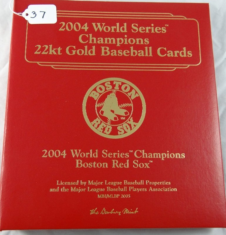 37: Danbury Mint 22kt Gold Baseball Cards