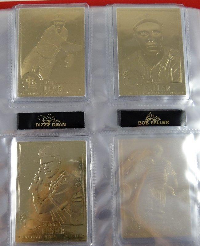 37: Danbury Mint 22kt Gold Baseball Cards - 3