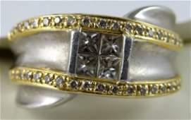 61C: Men's Platinum & 18K Diamond Ring