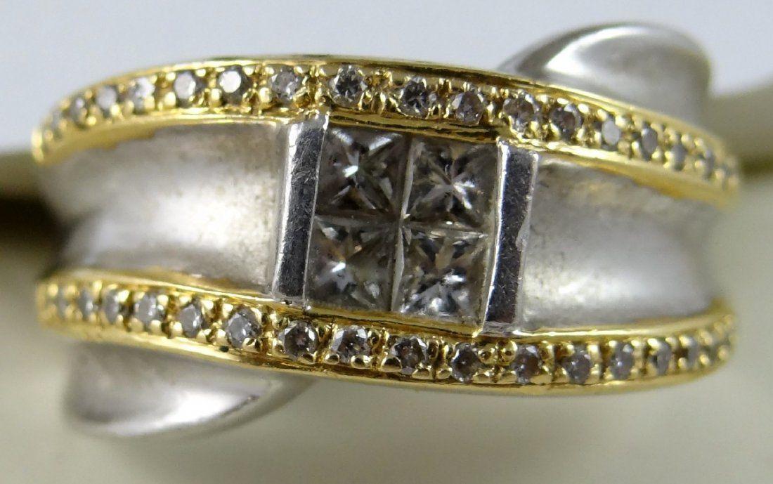 Men's Platinum & 18K Diamond Ring