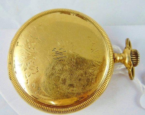80A: 1909 Hamilton 17 Jewel 14K GF Pocket Watch - 3