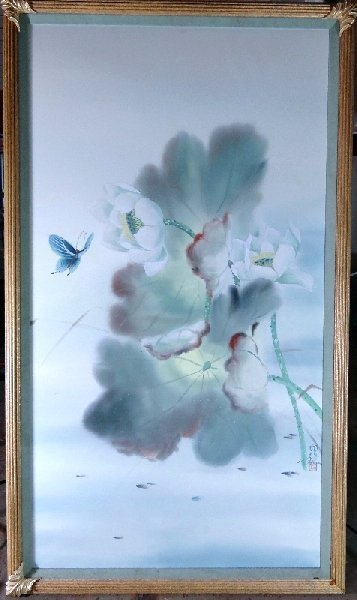 Watercolor artists directory wiki - 105 Water Color On Silk By Tai Poon