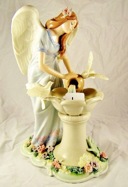 1: Beautiful Hand Painted Angel Statue