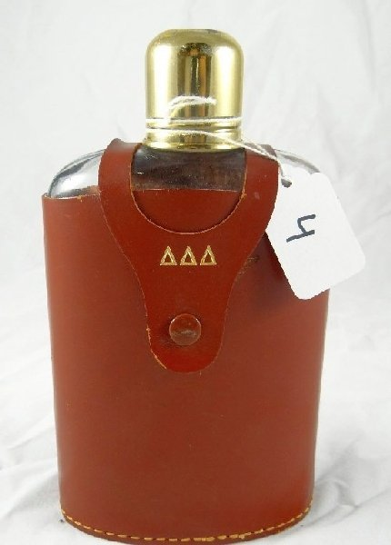 "4: Vintage Leather ""Elyte"" Flask Case W/ Flask"