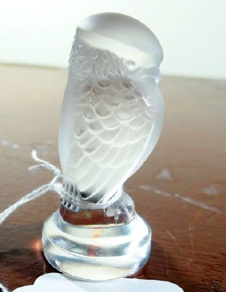 5D: Lalique France Crystal Baby Hawk Figurine