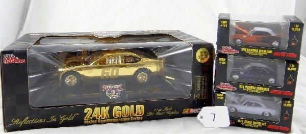 7: 4 Racing Champions Limited Ed Die Cast Cars
