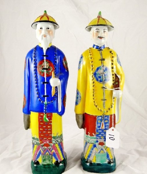 10: Lot of (2) Oriental Porcelain Figurines