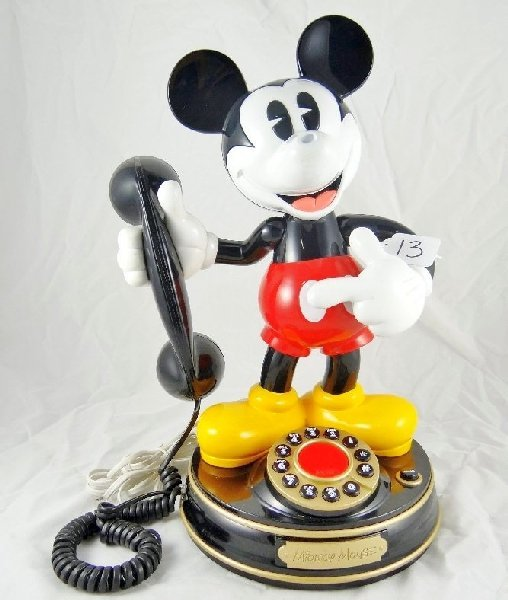 "13: Vintage ""Telemania"" Mickey Mouse Telephone"