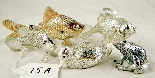 15A: 5 Christofle Lumiere Lace Animal Figurines