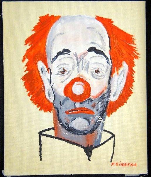 36B: Auth. Frank Sinatra Original Clown Painting