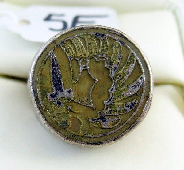 """5E: Men's """"Warrior Bird W/Dagger"""" Sterling Ring"""