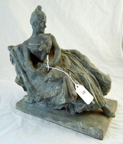 9: Vintage Bronze Sculpture Of An Elegant Lady