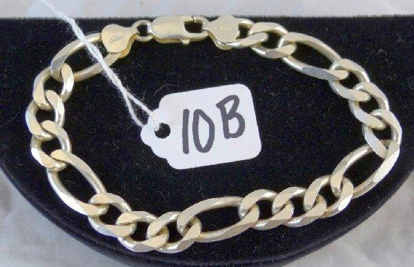 """10B: Men's Solid Sterling """"Figueroa"""" Bracelet"""