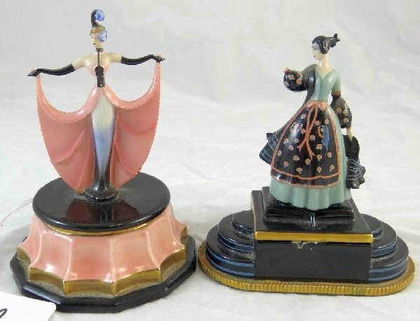 12: 2 House of Erte Franklin Mint Music Boxes