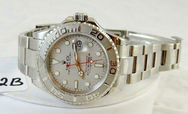 22B: Men's Rolex Platinum/SS Yacht Master Watch