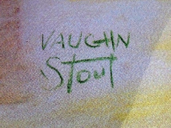 120: Vaughn Stout Stage Coach West Signed Litho. - 2