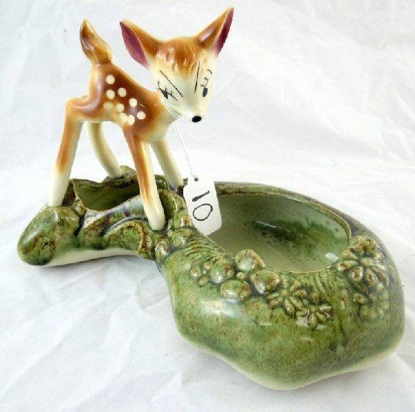 "10: Vintage Walt Disney""Bambi""Ceramic Planter"