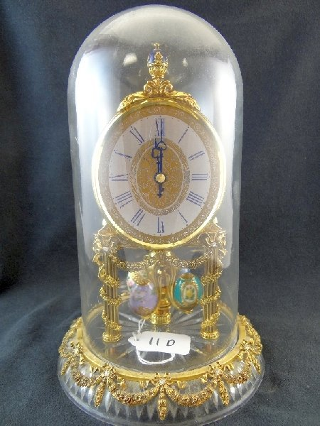 11D: Stunning Faberge Germany Domed Mantle Clock