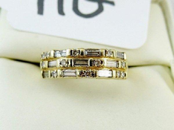 """11G: """"KK"""" Solid 14K Gold & 1CTTW Diamond Ring"""