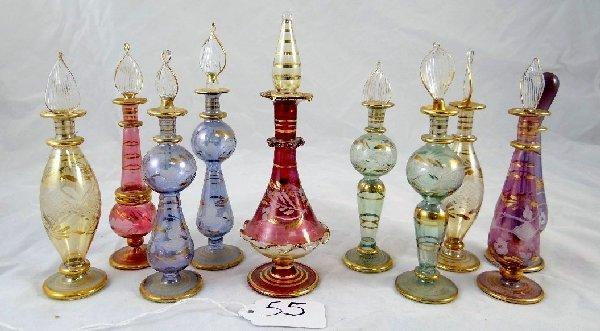 55: (10)Royal Limited Crystal Perfume Bottles