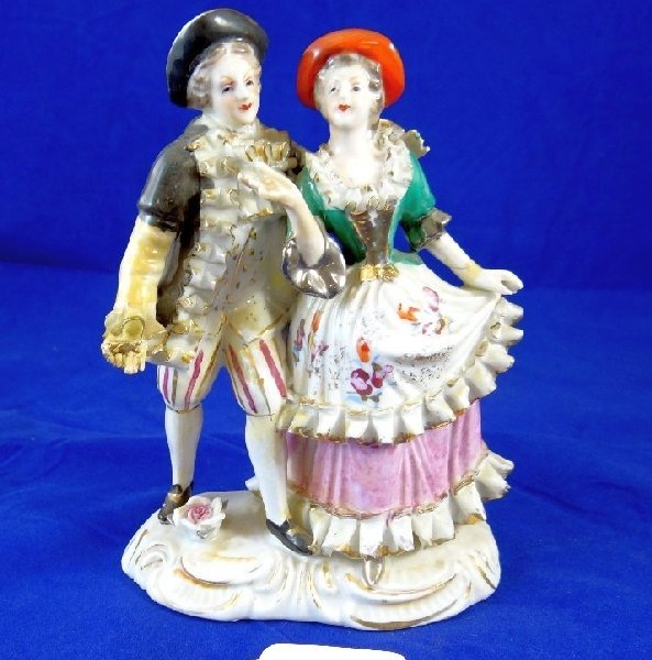 "7: 1900's ""Meissen"" Porcelain Loving Couple"