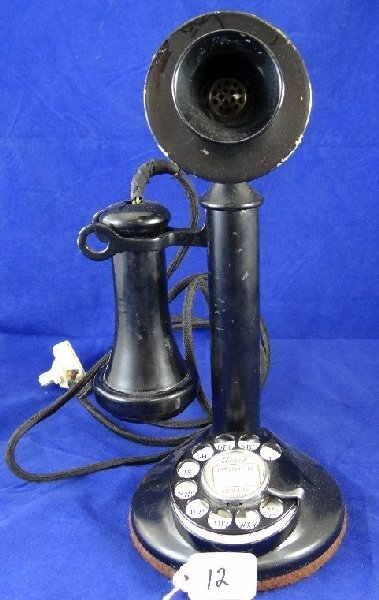 12: Antique Western Electric Candlestick Phone