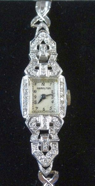 20D: Hamilton Ladie's Watch W/14K & Diamonds