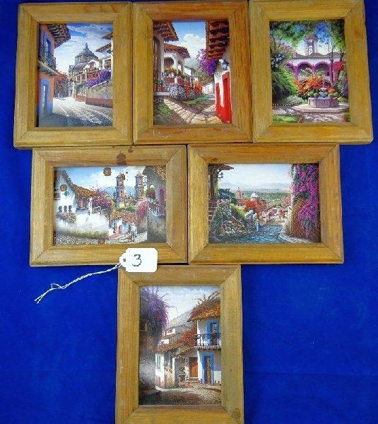 Lot of (6) Framed Detailed Prints