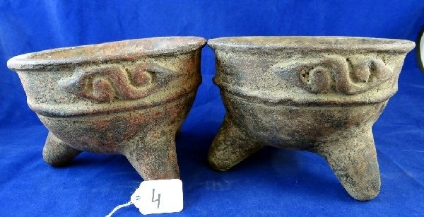 Lot of (2) Antique Grinding Bowls