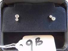 Tiffany  Co Platinum  Diamond Earrings