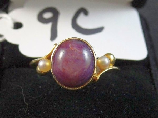 14K & 4.25CT Purple Star Sapphire Ring