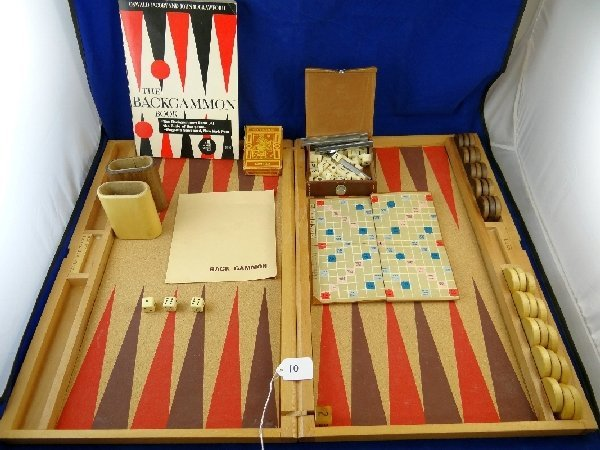 Vintage Backgammon,Playing cards & Scrabble