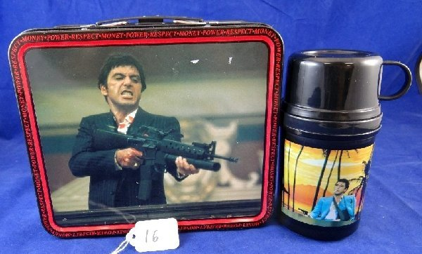 SCARFACE Tin Lunchbox & Thermus