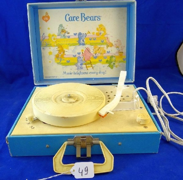 1983 Playtime Care Bears Record Player