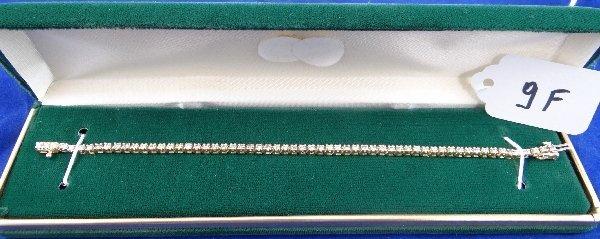 9F: App 2cttw Diamond &14k Gold Tennis Bracelet