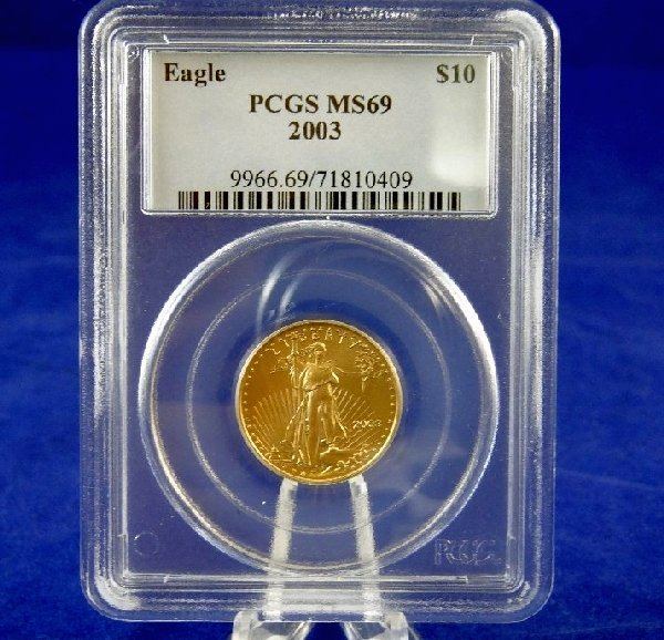 2003-P $10 Gold Eagle In PCGS Slab MS69