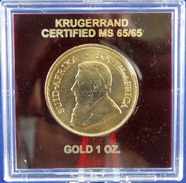 2000 Krugerrand 1 Oz .9999 Fine Gold MS65