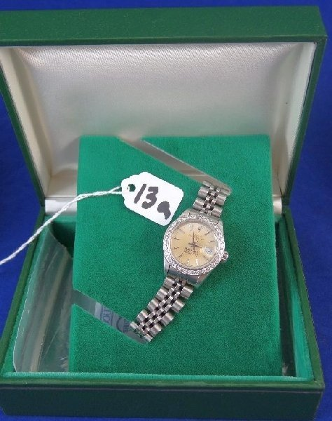 Tiffany Rolex Ladies Datejust W/Diamond Bezel