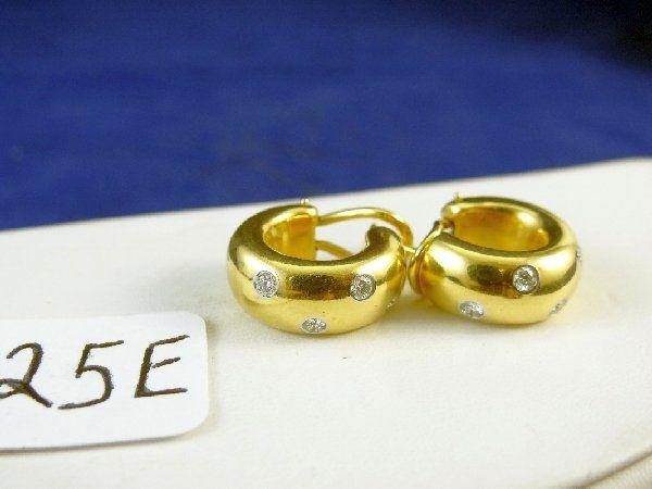 TIFFANY & CO. 18K,PLATINUM DIAMOND Earrings