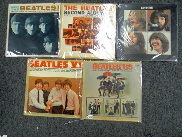 Lot of (5) Vintage Beatles Records