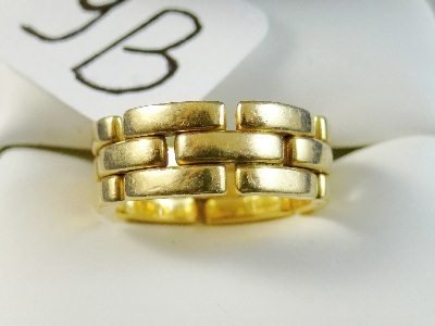 9B: Cartier 18K MAILLON PANTHÈRE 6.5mm RING