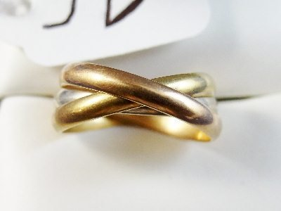 "9D: Cartier 18K Tri-Colored Gold ""Trinity Ring"""