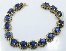 14K Gold Bracelet W39CTW Diam  1725CTW Sapp