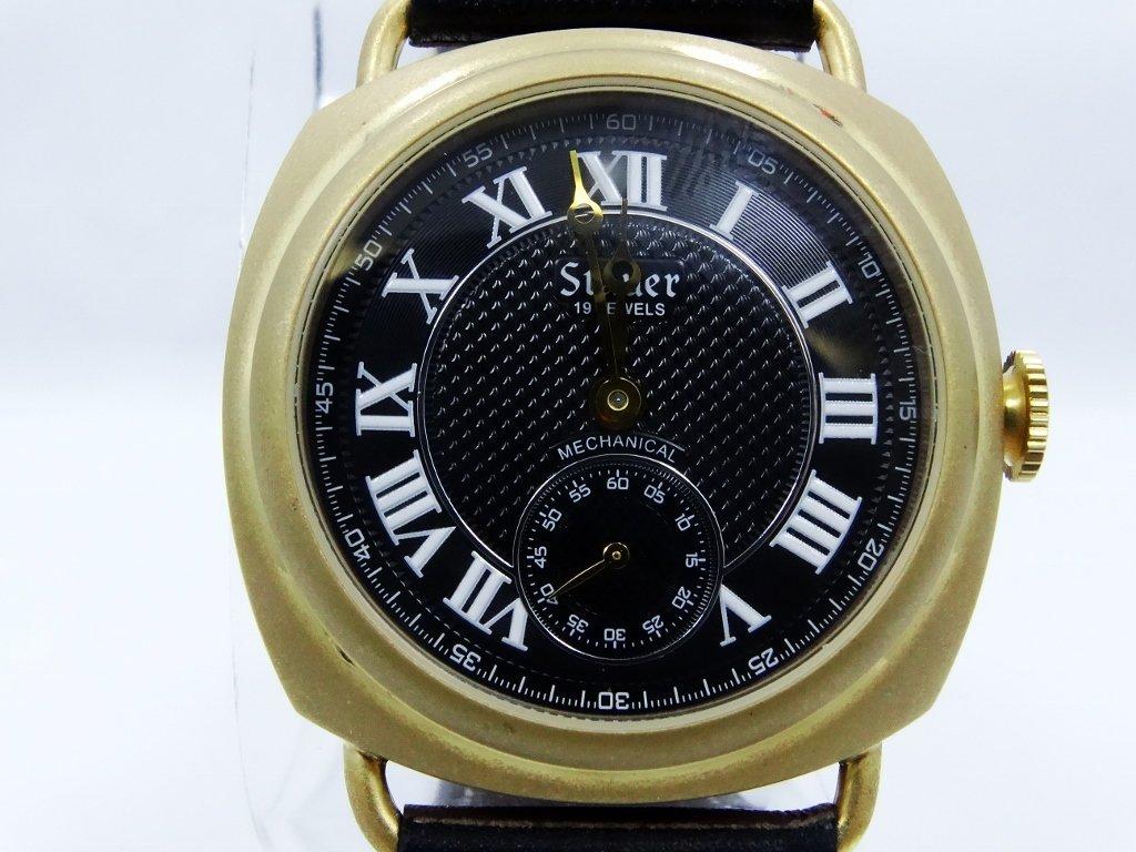 "Men's Stauer ""Reversable"" 19J Mechanical Watch - 4"
