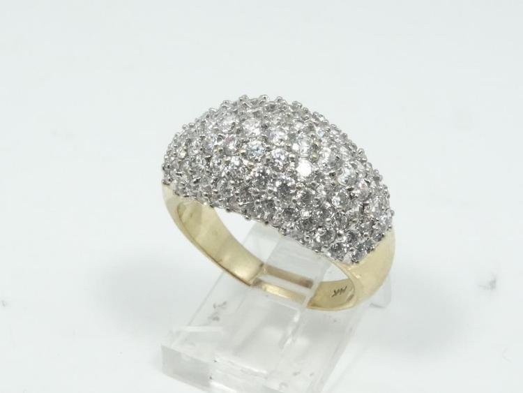 2.10CTW Genuine SI1/G-H Diamond & SOLID 14K Yellow Gold