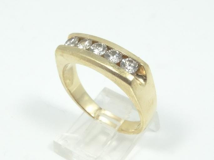 Vintage Solid 14K Yellow Gold & Approx. 0.75CTW Genuine
