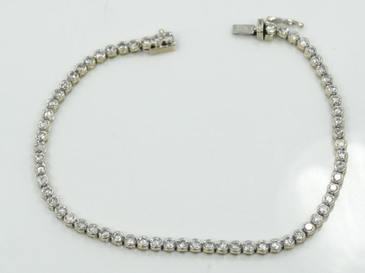 Solid 18K White Gold & 2.52CTW Genuine SI1-SI2/G-H